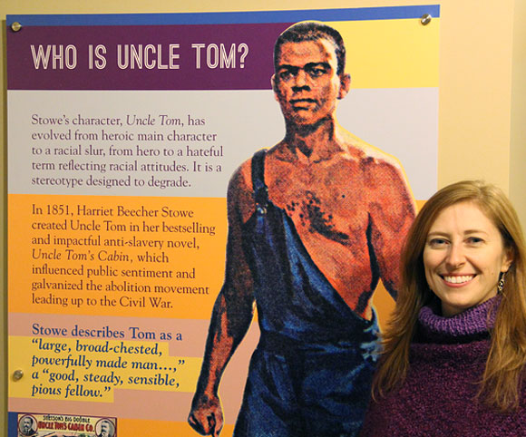 Who is Uncle Tom-panel1 and designer Natacha Poggio