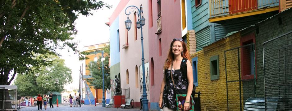 Natacha Poggio traveling image in La Boca, Buenos Aires, Argentina